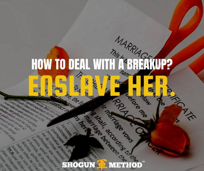 how to deal with a breakup? Enslave her!